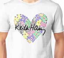 keith haring, keith, haring, big, love, graffiti, man, girl, family, wall, symbol. Unisex T-Shirt