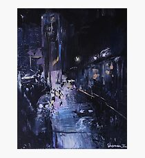 Night Wanderer Oil Painting Photographic Print