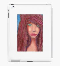 Oil Pastel Girl Portrait iPad Case/Skin