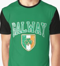 Galway, Ireland with Shamrock Graphic T-Shirt