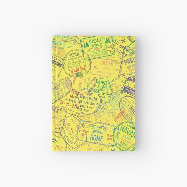 Travel Stamps Hardcover Journal