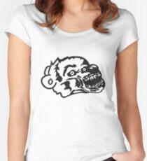 undead face head zombie blood horror halloween scary evil monster hug funny sweet cute teddy bear Women's Fitted Scoop T-Shirt
