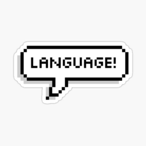 Langue! Sticker