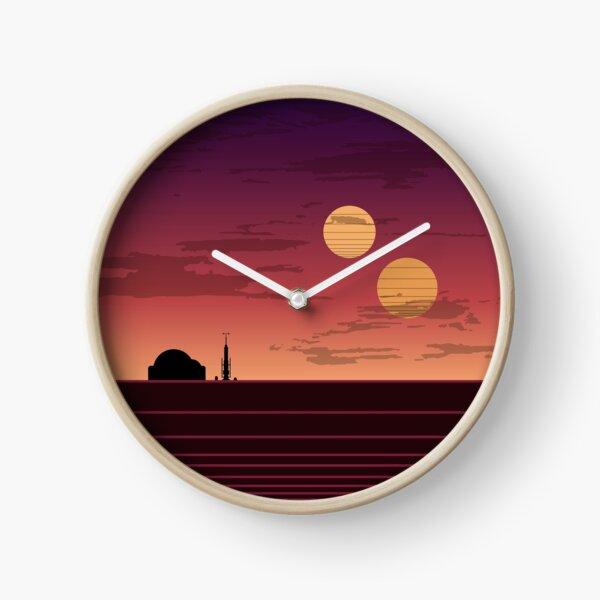 Le coucher de soleil binaire Horloge