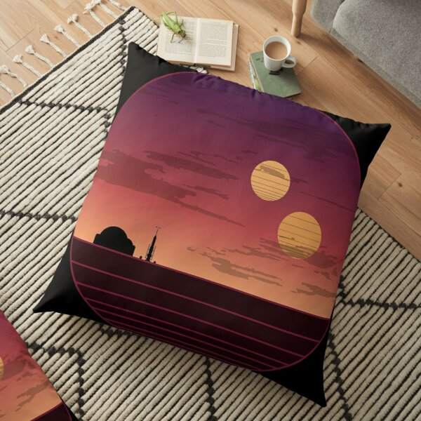 The Binary Sunset Floor Pillow