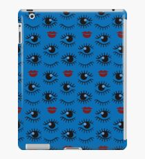 Eyes and lips  silhouette seamless pattern. Stylish trend design  iPad Case/Skin