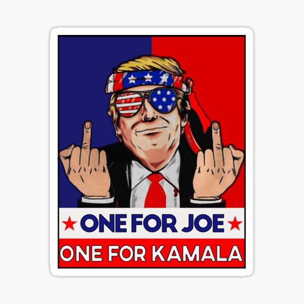 donald trump funny impeachment political Funny Joe Biden anti biden harris retro 2021 Sticker
