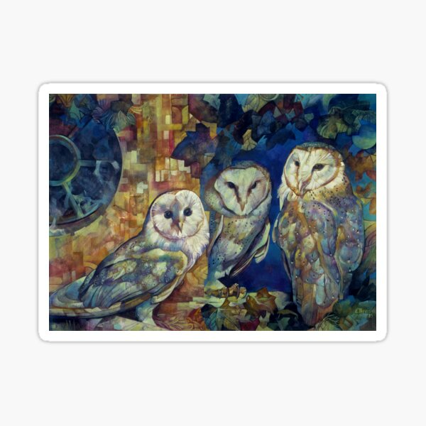 barn owls Sticker