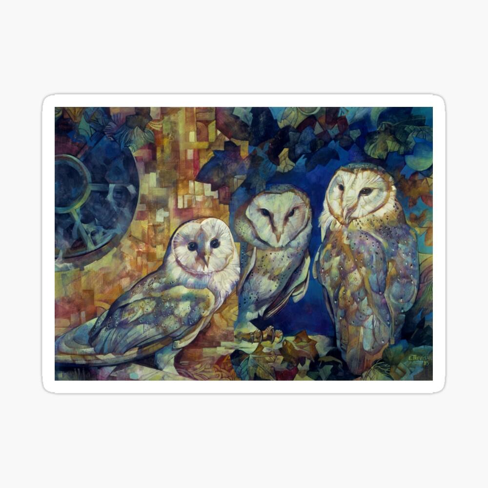barn owls Sticker