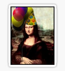 Mona Lisa Birthday  Sticker