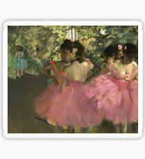 Edgar Degas - Dancers In Pink Sticker