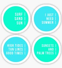 Summer Beach Vibes - Pack Two! Sticker