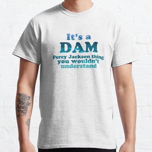 """""""Es una cosa de Dam Percy Jackson Thing"""" Blue Sea Writing Camiseta clásica"""