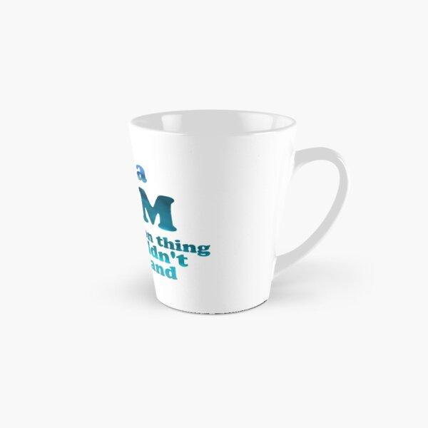 """""""It's a Dam Percy Jackson Thing"""" Blue Sea Writing Tall Mug"""