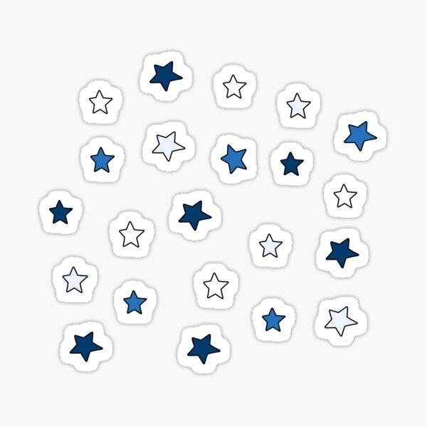 Blue and White college mini star pack Sticker