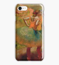 Edgar Degas - Dancers Wearing Green Skirts iPhone Case/Skin