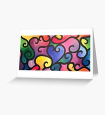 Abstract Heart Painting Greeting Card