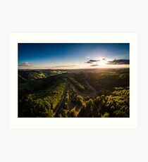 Karussell at Sunset Art Print