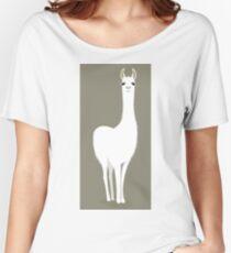 STANDING LLAMA #8 Women's Relaxed Fit T-Shirt