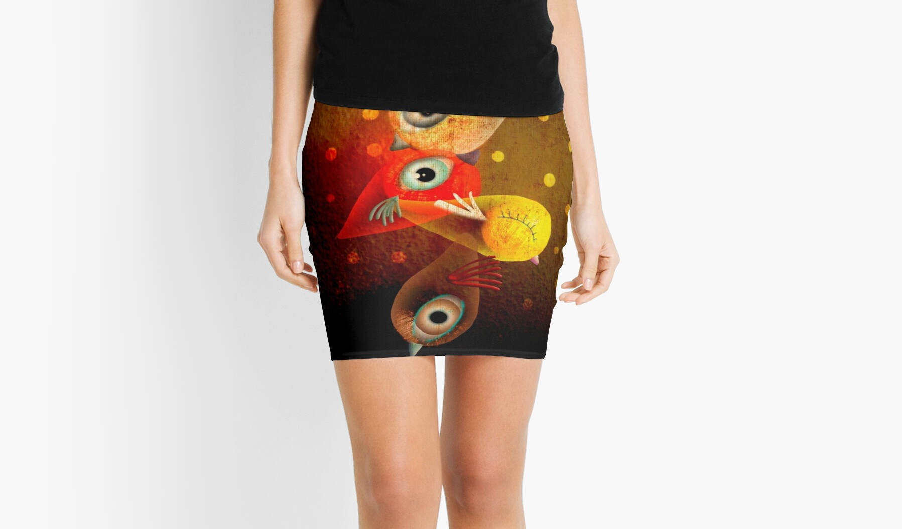 Quot Lighting Birds Quot Mini Skirt By Rupydetequila Redbubble