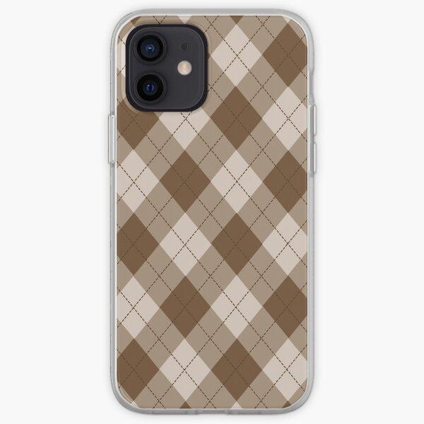 diamante a cuadros beige Funda blanda para iPhone