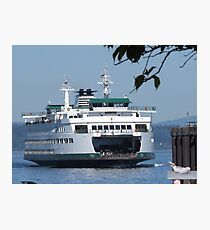 Ferry Puyallup arriving Edmonds Photographic Print