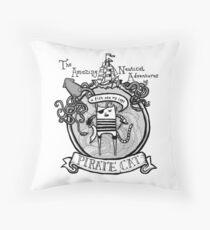 Pirate Cat Sails the Seven Seas Throw Pillow