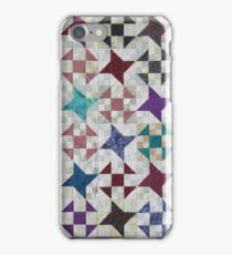 Churn Dash and Falling Stars Quilt iPhone Case/Skin
