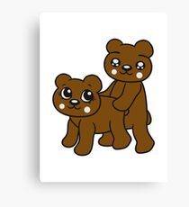 teddies sex poppen fucking funny cuddling couple couple love love doggy from behind woman man Canvas Print