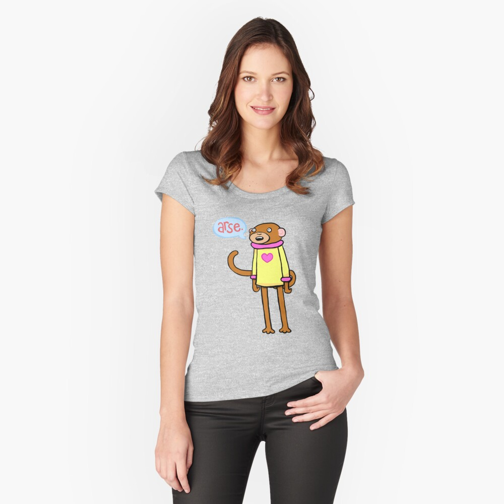 23791311ad0 Arse Monkey   Women's Fitted Scoop T-Shirt