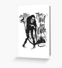 There Wolf There castle Greeting Card