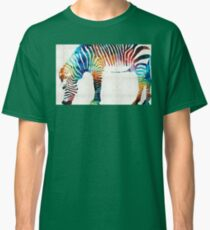 Colorful Zebra Art by Sharon Cummings Classic T-Shirt
