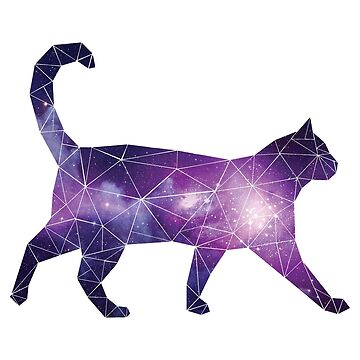 Geometric Space Cat by BethImogenx