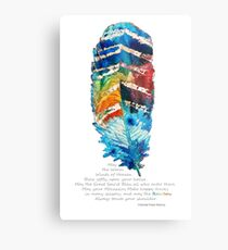 Colorful Feather Art - Cherokee Blessing - By Sharon Cummings Metal Print