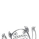 Surprise monster of pencil by lauriepink