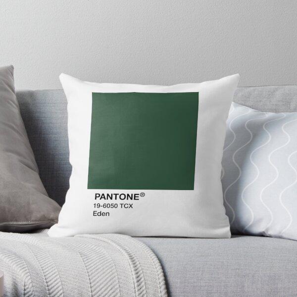PANTONE Eden, Green Throw Pillow