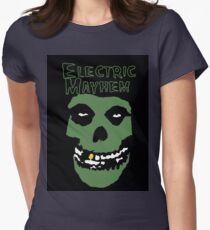 Electric Mayhem Parody Logo Womens Fitted T-Shirt