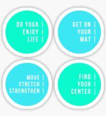 Yoga - Set Three! Sticker