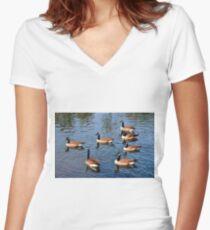 Family Of Seven  Women's Fitted V-Neck T-Shirt