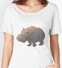 Cute cartoon hippo Women's Relaxed Fit T-Shirt