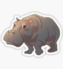Cute cartoon hippo Sticker