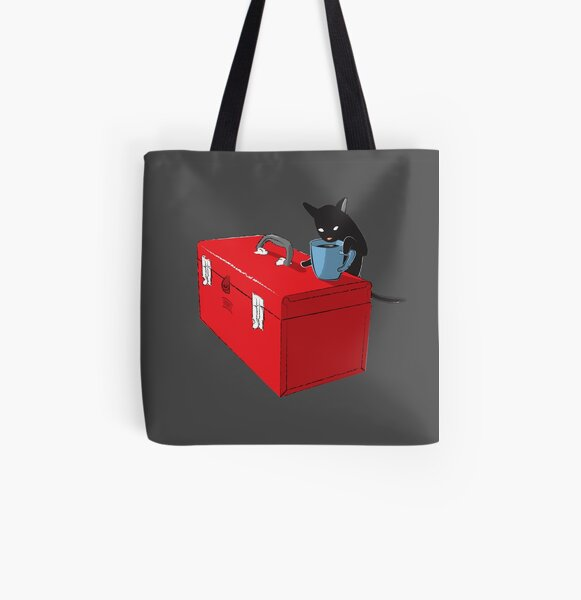 Chat and Coffee on a Toolbox All Over Print Tote Bag
