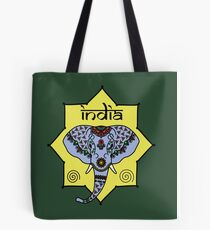 Majestic Elephant - Green Tote Bag