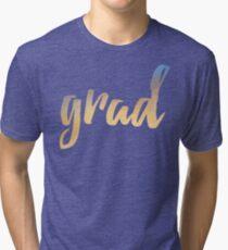 Grad | yellow brush type Tri-blend T-Shirt