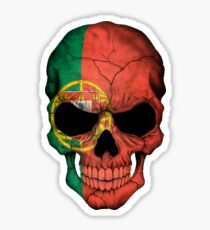 Portuguese Flag Skull Sticker