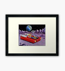 MOON ROVER Framed Print