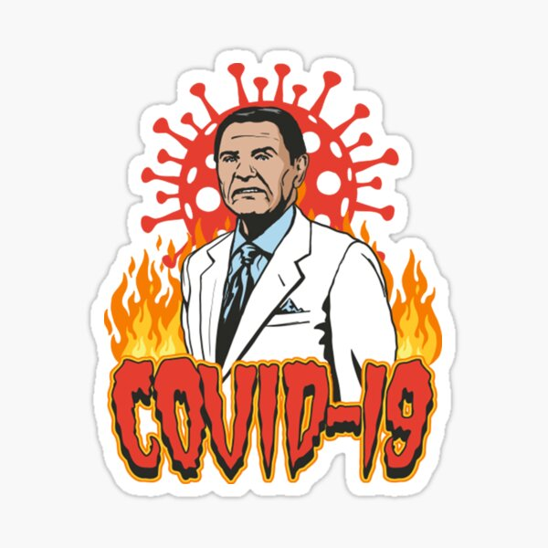 Covid-19 Preacher Remix Sticker