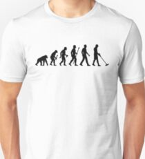 Funny Metal Detecting Evolution Unisex T-Shirt