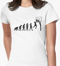 Funny Women's Basketball Evolution Womens Fitted T-Shirt