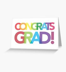 Congrats, Grad | colorful type Greeting Card